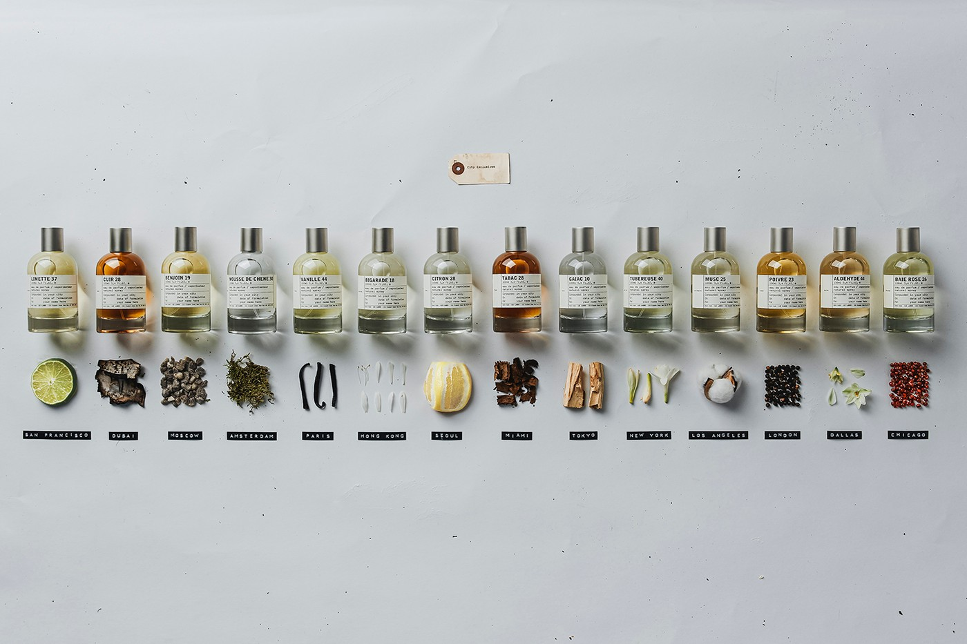 Le Labo的City Exclusive Collection系列的其中14种香水,在韩国限量发售