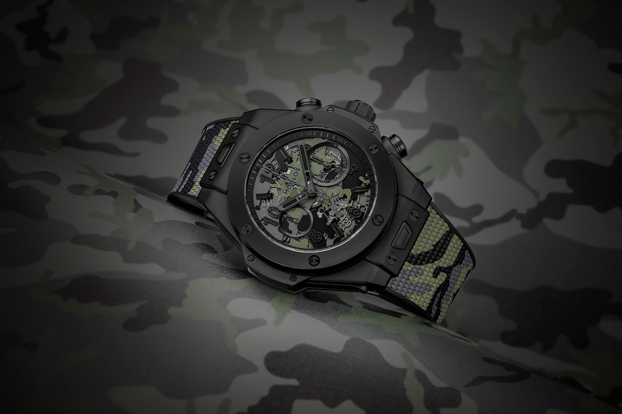 宇舶和山本耀司联名推出大爆炸系列手表迷彩版