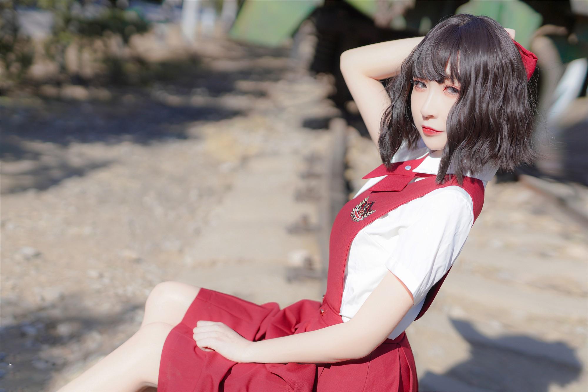 JK制服美女写真系列,腿细的女孩子你喜不喜欢