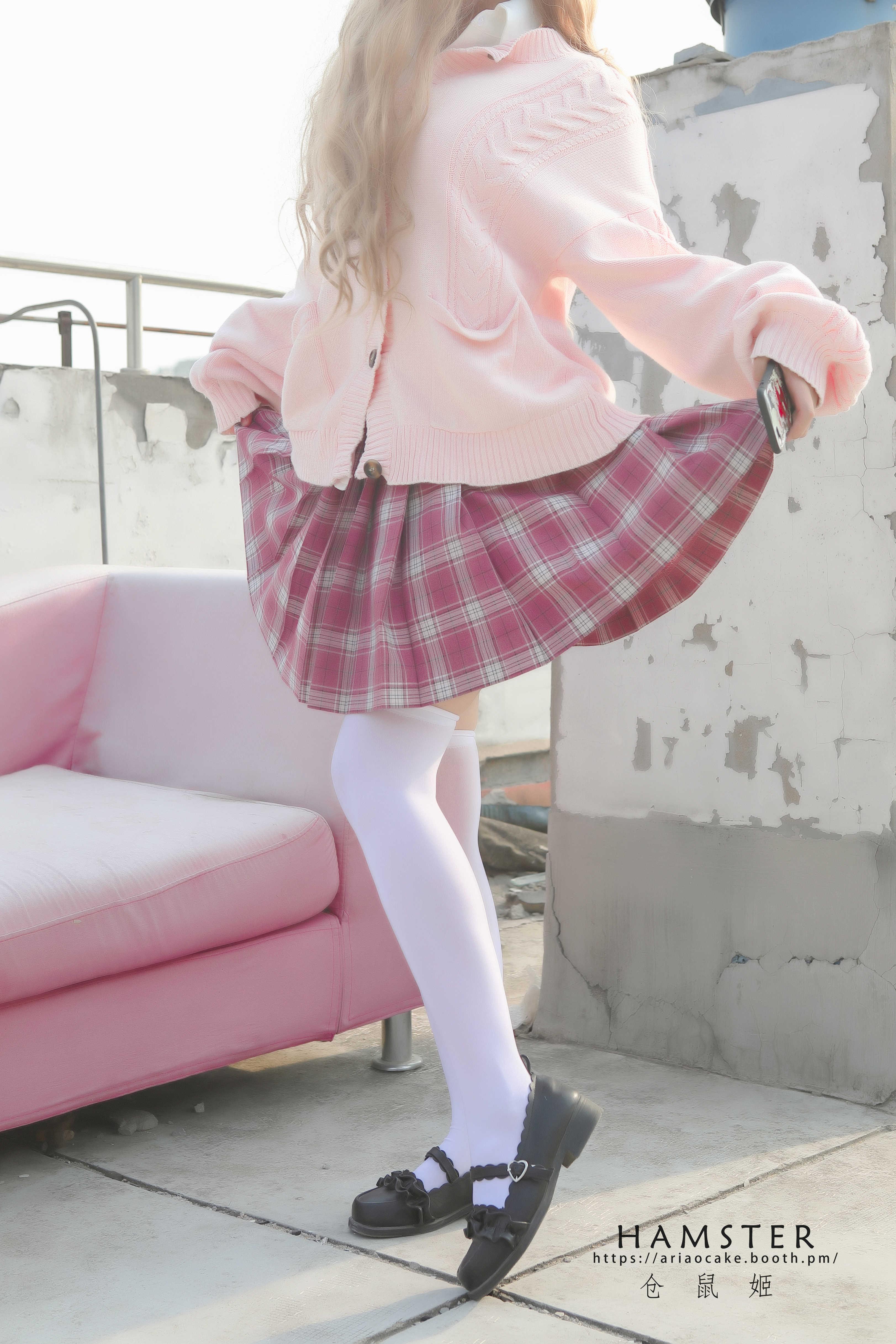 仓鼠姬甜蜜JK写真,粉色系甜到你不行