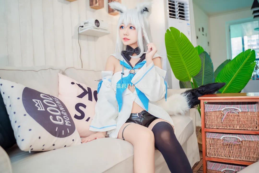 猫君君MaoJun白上吹雪COS写真,可爱的喵喵狐