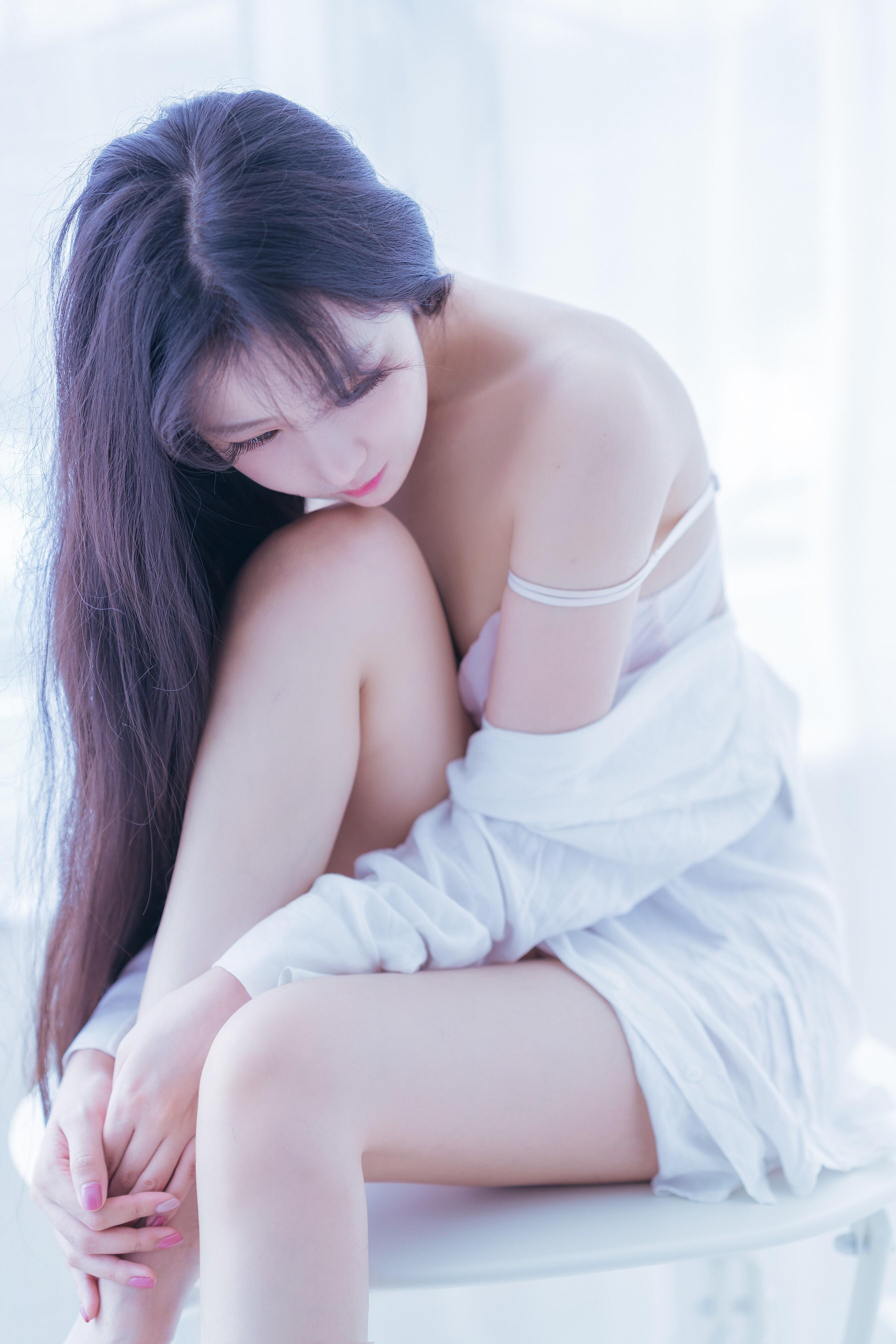 Shika小鹿鹿白衬衣写真,清纯又诱人