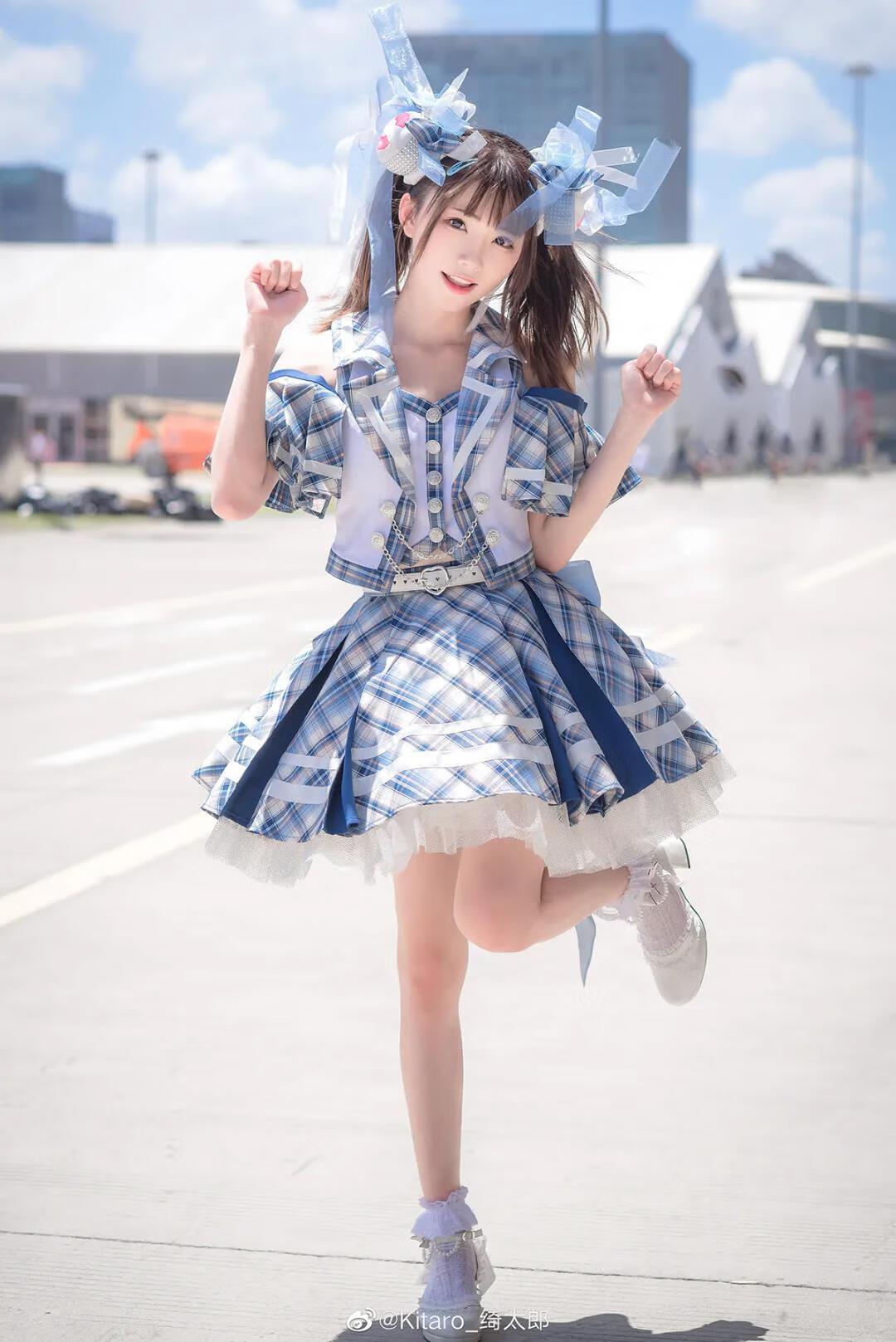 Kitaro_绮太郎ac娘打歌服写真,元气满满美少女