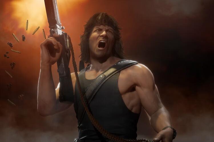最新《真人快打11》预告片中透露Rambo会成为下一个DLC角色