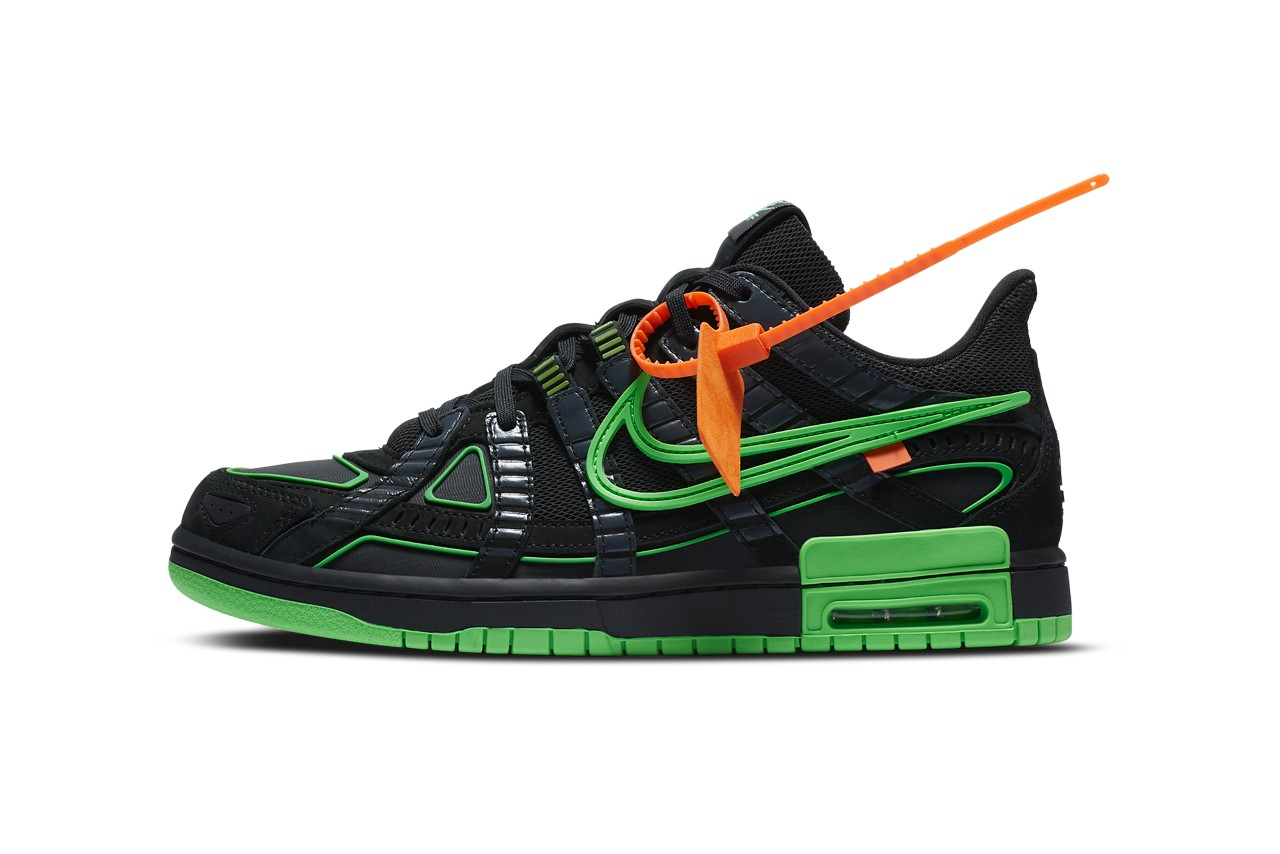 Off-White x Nike Air Rubber Dunk Green Strike正式外观